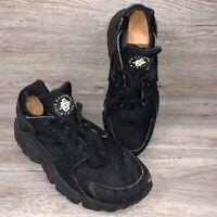 Nike Air Huarache Triple Black Men's Sz 10.5 Athletic Shoes 318429-003 **Flaws**