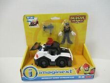 SERGEANT SIREN & POLICE CAR Imaginext Fisher-Price Toy NIB! WORKS! ZQ