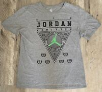 Numbers Dont Lie MCMLXXXV Air Jordan Mens Graphic T-Shirt Gray Heathered Tee L