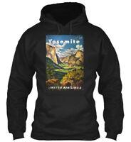 Yosemite United Air Lines Vintage - Gildan Hoodie Sweatshirt
