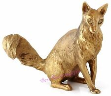Turkish Angora Cat Bronze Figurine Russian Art Animal Sculpture Statue 5""