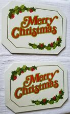 Vintage Collectible Christmas Hot Mat Trivet Set Of 2- Decorative Metal