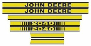 New Hood Decal Set for John Deere Tractor Model 2040  - JD412 NEW!