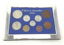 More details for 77th birthday gift  a superb 1944, silver framed, coin year set - gift boxed