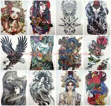 12 sheets Chest Wrist Arm Leg large arm back check thigh leg temporary tattoo