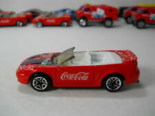 Matchbox 1999 Ford Mustang Convertible Coke Coca-Cola HTF 1/64 Scale JC51