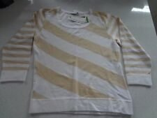 Country Casuals White and Wheat Jumper. Size L, RRP £40