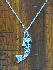 Angry Fish Pendant Charm Necklace Beach Fishing Surfing Salt Life