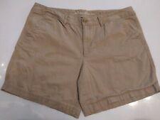 Eddie Bauer Women's Size 16 Tan Chino Shorts Legend Wash