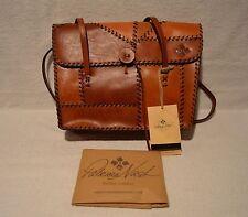Patricia Nash Faito Satchel Leather Patchwork Tan Nwt $300