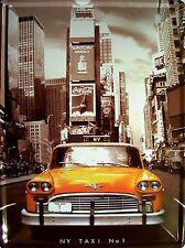 Taxi Yellow Cab New York Blechschild Schild gewölbt Metal Tin Sign 30 x 40 cm