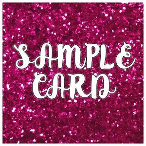 Swatch Sample Card - Choose from: Felt, Glitter Fabric, Iron On HTV