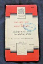 National Grid, Montgomery & Llandrindod Wells - Sheet 128, Crown 1961 - Paper