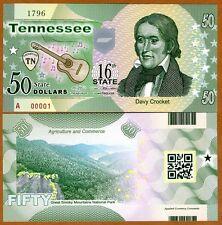 Kentucky Polymer ND P-N//L $50 2015 UNC Daniel Boone USA States