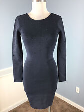 Anthropologie French Connection XS 2 Charcoal Gray Embellished Stretch Cocktail
