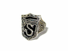 HARRY POTTER ORNATE SLYTHERIN HOUSE CREST RING AMBITION CUNNING RESOURCEFUL