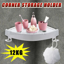USA Bathroom Triangular Shower Shelf Corner Bath Storage Holder Organizer Rack