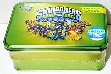 Topps SKYLANDER Swap Force COLLECTOR CARDS & Sticker Metal BOX SET - Brand New
