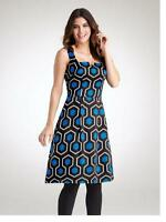 PD489 BRAVISSIMO SILK GEO DRESS  by PEPPERBERRY IN BLUE MIX (19)