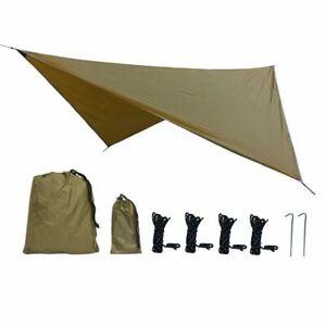 Waterproof Tarp Tent Sun Shade Outdoor Camping Hammock Hiking Rain Roof Canopy