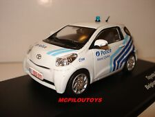 J-COLLECTION JC181 TOYOTA IQ BELGIUM POLICE CAR 2012 au 1/43°