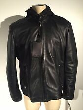 Andrew Marc NEW YORK Leather Jacket Liner Hoodie Biker Size XL NEW $495.00
