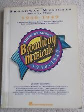 Broadway Musicals 1940-49 Voice Piano 23 Shows Unmarked