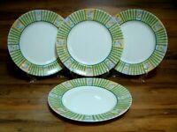 """SET OF 4 - CORNING CORELLE - CLASSICAL GARDEN - 10 3/4""""  DINNER PLATES  - EUC"""