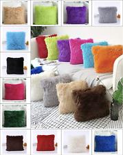 Long Pile Soft Shaggy Faux Fur Cushion Cover
