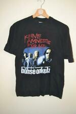 RETRO BOHSE ONKELZ KEINE AMNESTIE FUR MTV BLACK T-SHIRT SMALL MENS