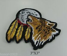 NEW EMBROIDERED SEW IRON ON PATCH T-SHIRT WOLF FOX BIKER SEWED JACKET JEAN CAP