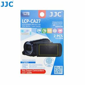 """JJC LCP-CA27 Film Screen Display Protector for CANON 2.7"""" LCD Camcorders x2"""