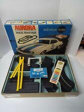 Vintage 1970 Ho slot Aurora Model Motoring T-Jet slot car set # 1981