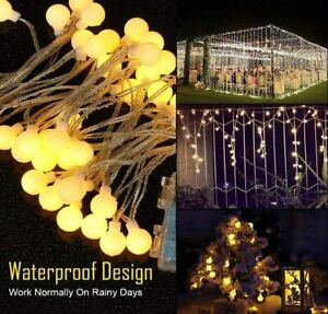 Warm White 100 LED Globe String Lights 10m Festoon Lights for Indoor Outdoor