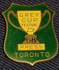 1968 - CFL - 56th GREY CUP - MEDIA/PRESS - TORONTO - FOOTBALL - ORIGINAL - PIN