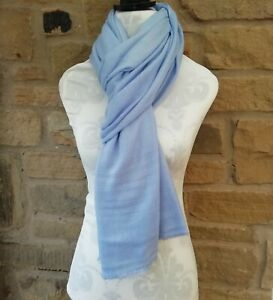 Cashmere Scarf Baby Blue Light weight BNWT