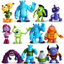 Monsters Inc Sulley Mike Disney Playset 12 Figure Cake Topper Toy Doll Set