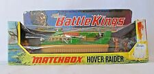 VINTAGE MATCHBOX BATTLE KINGS K-10 - HOVER RAIDER WITH 3 INFANTRY FIGURES - NIB