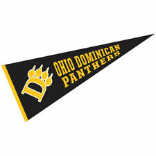 """Ohio Dominican Panthers Wool 12"""" x 30"""" Raised Printed Pennant"""