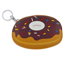 Lux Accessories Novelty Chocolate Donut and Sprinkles Coin Purse Keychain