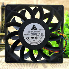 2 PCS DELTA FFB1212HH Cooling Fan DC12V 0.78A 120mm x 120mm x 25mm
