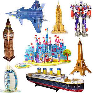 3D Famous Buildings Landmarks Architecture Replicas Models Jigsaw Puzzles Set UK