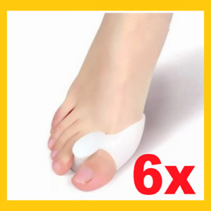6x Silikon Zehenspreizer ( 3 Paar ) Hallux Valgus Korrektur Ballenschutz Fuß