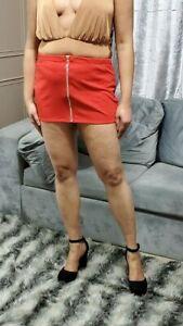 Micro Mini Jupe Femmes Taille Haute Argent Fermeture Ultra Court Grande 6-24