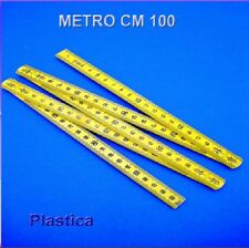 3 METRO PIEGHEVOLE IN PLASTICA 1 METRI RIPIEGABILE  cm 100 CM STOCK