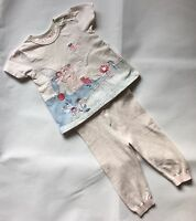 Marks And Spencer + Nutmeg Baby Girls T-shirt & Leggings Outfit 6-9 Months Pink