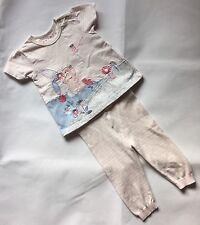 Baby Girls 6-9 Months Pink T-shirt + Leggings Set Marks And Spencer + Nutmeg