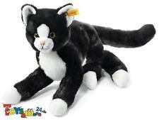 """Steiff Schlenker Katze """"Mimmi"""" 30cm schwarz/weiss 099366"""
