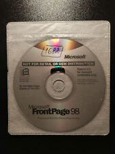 Microsoft FrontPage 98 cd-rom X03-67513
