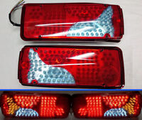 PAIR 24V REAR TAIL LED LIGHTS LAMPS FOR DAF MAN SCANIA IVECO RENAULT TRUCK LORRY